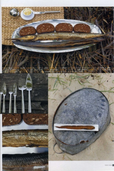 Style for page on the theme - Ideas for Fish Serving on the Beach. Photo Gvido Kajons