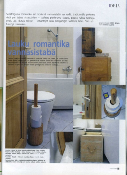 Page theme - bathroom interior ideas. Photo Gvido Kajons