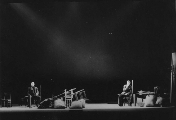 Scene from the perfomance at Latvian National theatre, 1992.